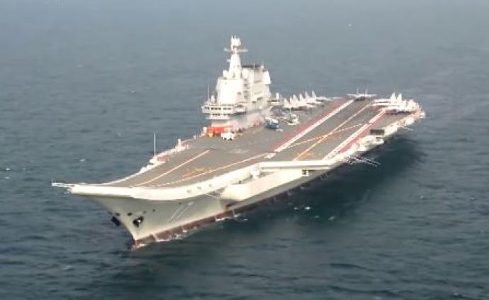 國防部:山東艦正在按計劃進行海上試驗訓練