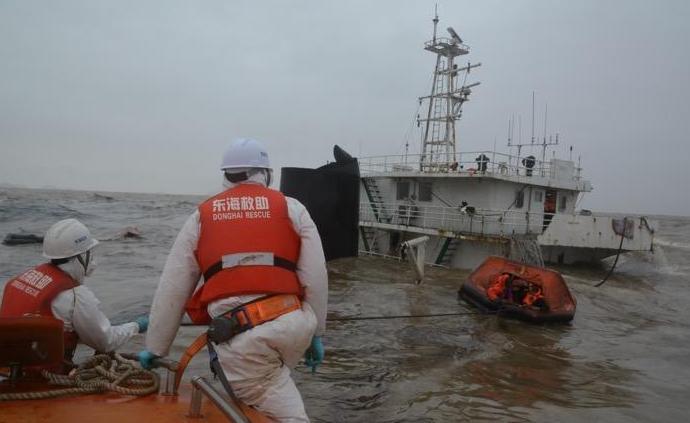 寧波象山海域貨船擱淺,13名船員獲救1人失蹤