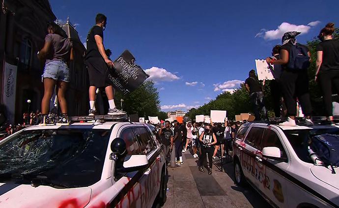 早安·世界|美國多地示威持續,特勤局警車在白宮外遭破壞