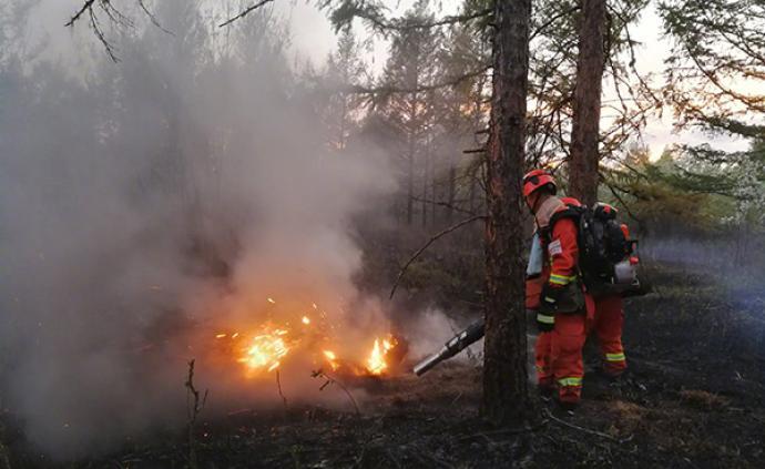 内蒙古大兴安岭林区两起森林火灾均已合围,火因均为雷电火