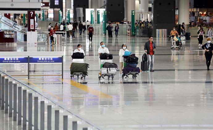 香港机场发布转机条件:目前必须同一航司集团转机