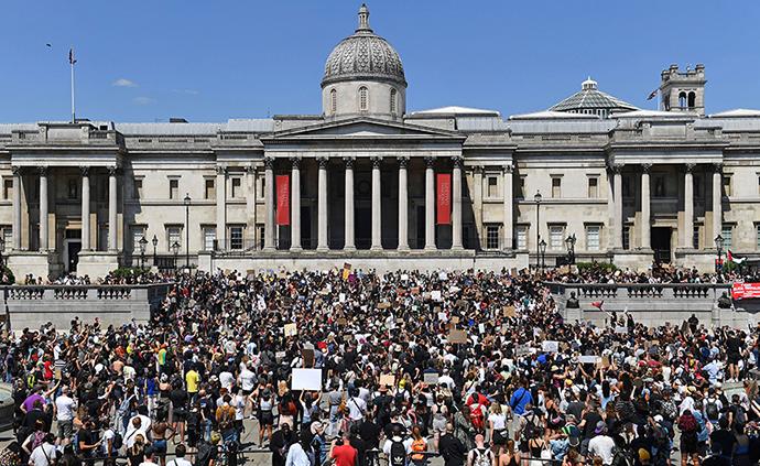 早安·世界|倫敦爆發抗議聲援美國示威者,至少23人被捕