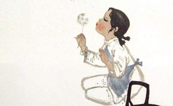 打彈子、滾鐵環、跳繩……1950年代美術創作中的兒童游戲
