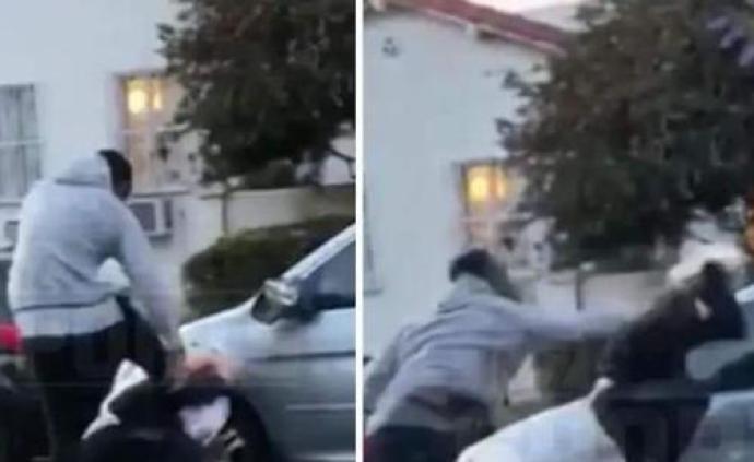 JR·史密斯街頭暴打白人青年:與仇恨無關,他先砸我的車
