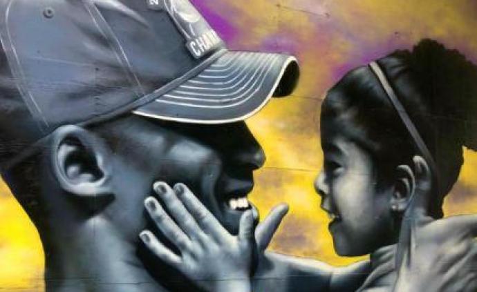 洛杉磯示威者保護科比父女壁畫,遺孀瓦妮莎發文感謝
