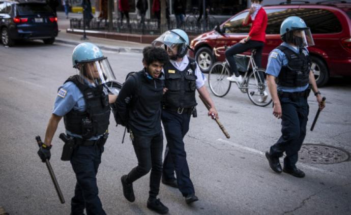 美国抗议活动进入第七天:警力加强,对峙持续