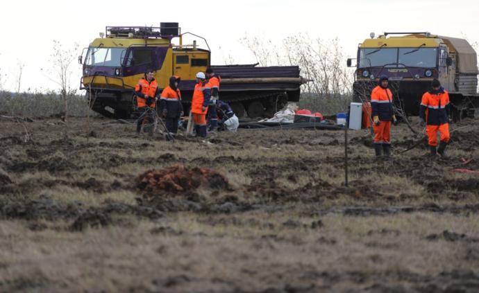 俄羅斯嚴重漏油事故系因永久凍土融化造成地面塌陷