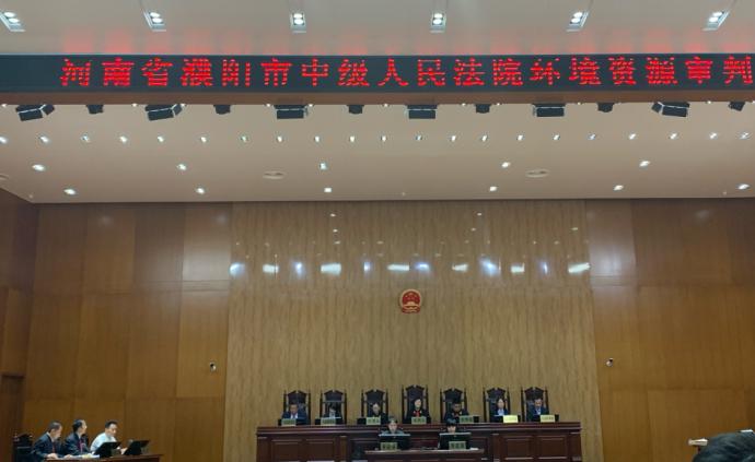 21車、270噸廢酸污染黃河支流,河南濮陽市長出庭當原告