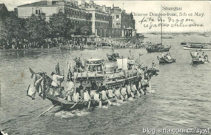 清末苏州河口的龙舟竞赛。图片来源:新浪微博@sywt