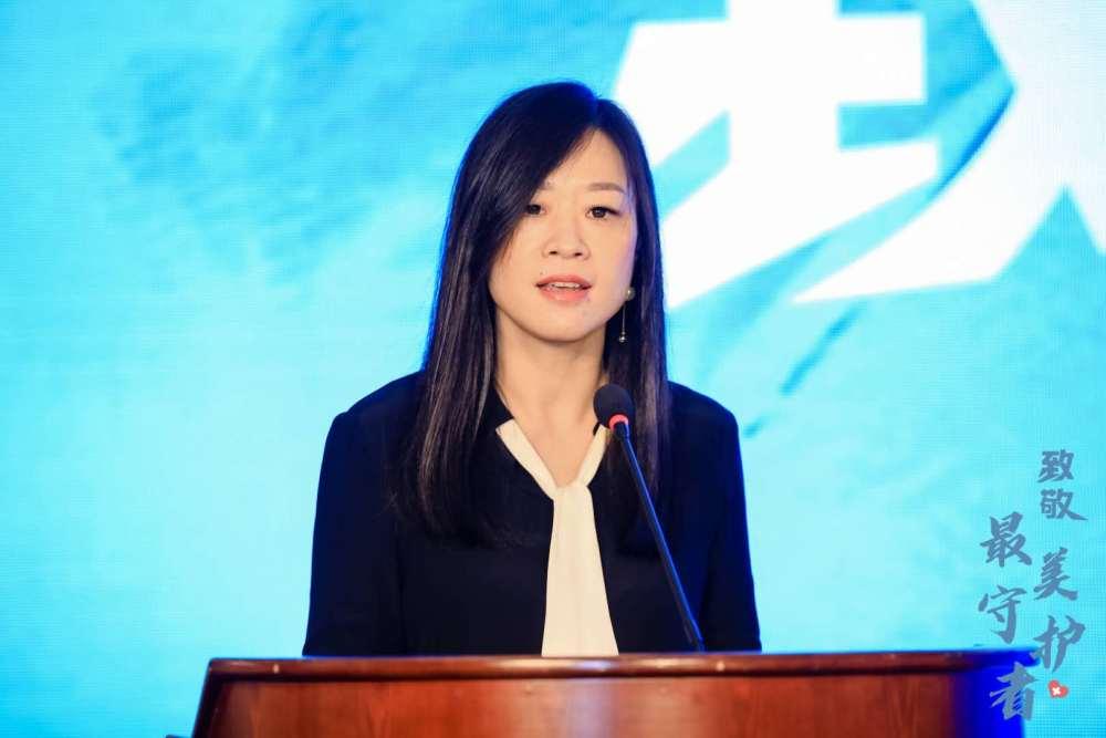 新华社新闻信息中心上海中心负责人金丽莉致辞