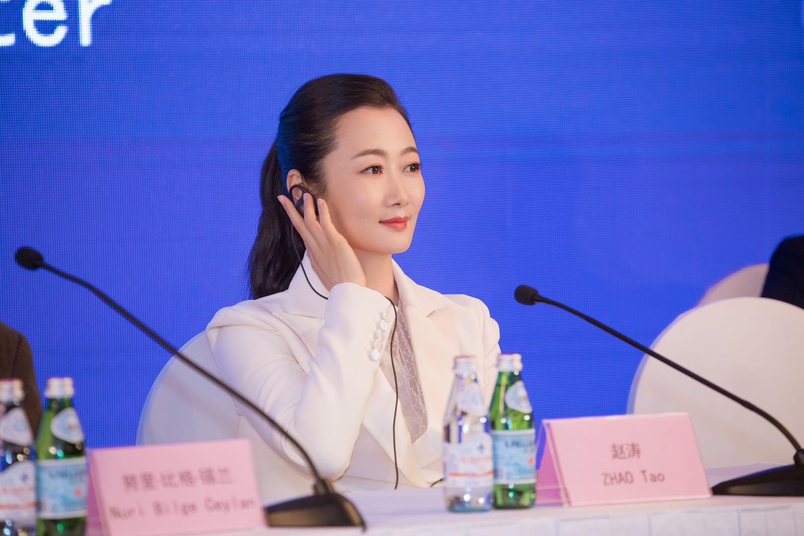 2019年,上海国际电影节评委见面会上的赵涛。