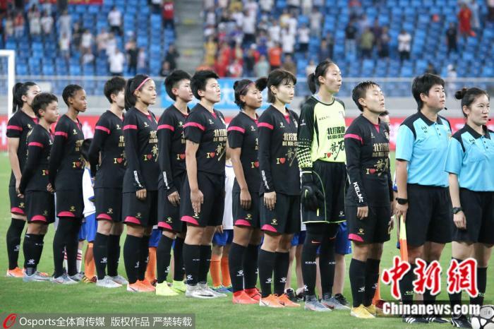 原料图:北京女足在2019赛季比赛中。图片来源:OSports通盘育图片社