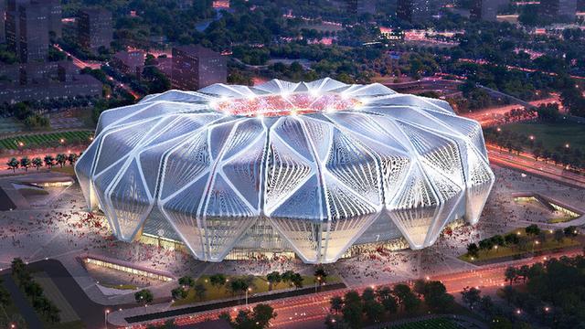 广州恒大足球场效果图。