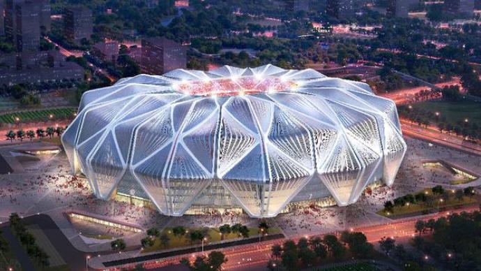 许家印构思的恒大足球场设计方案获全票通过,总投资120亿