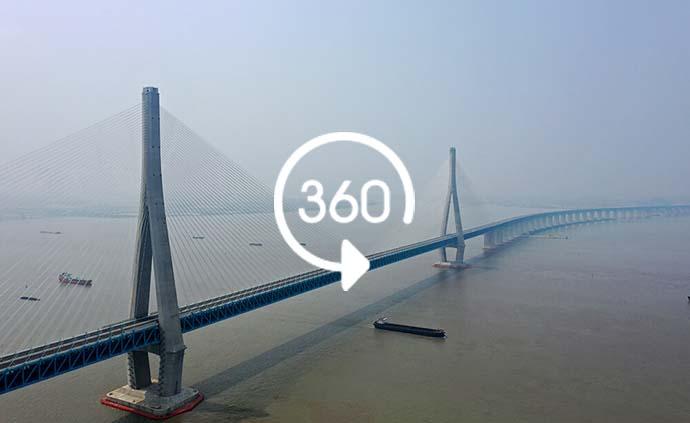 360°全景|主跨超千米!沪苏通长江公铁大桥正式通车