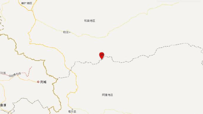 新疆和田地区于田县发生4.1级地震,震源深度10千米