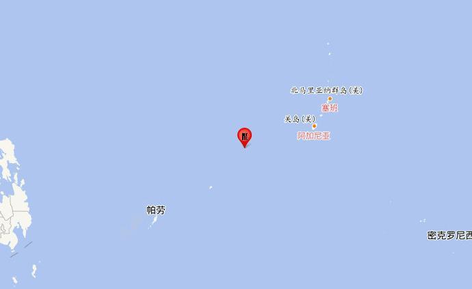 加羅林群島地區發生6.2級地震,震源深度20千米