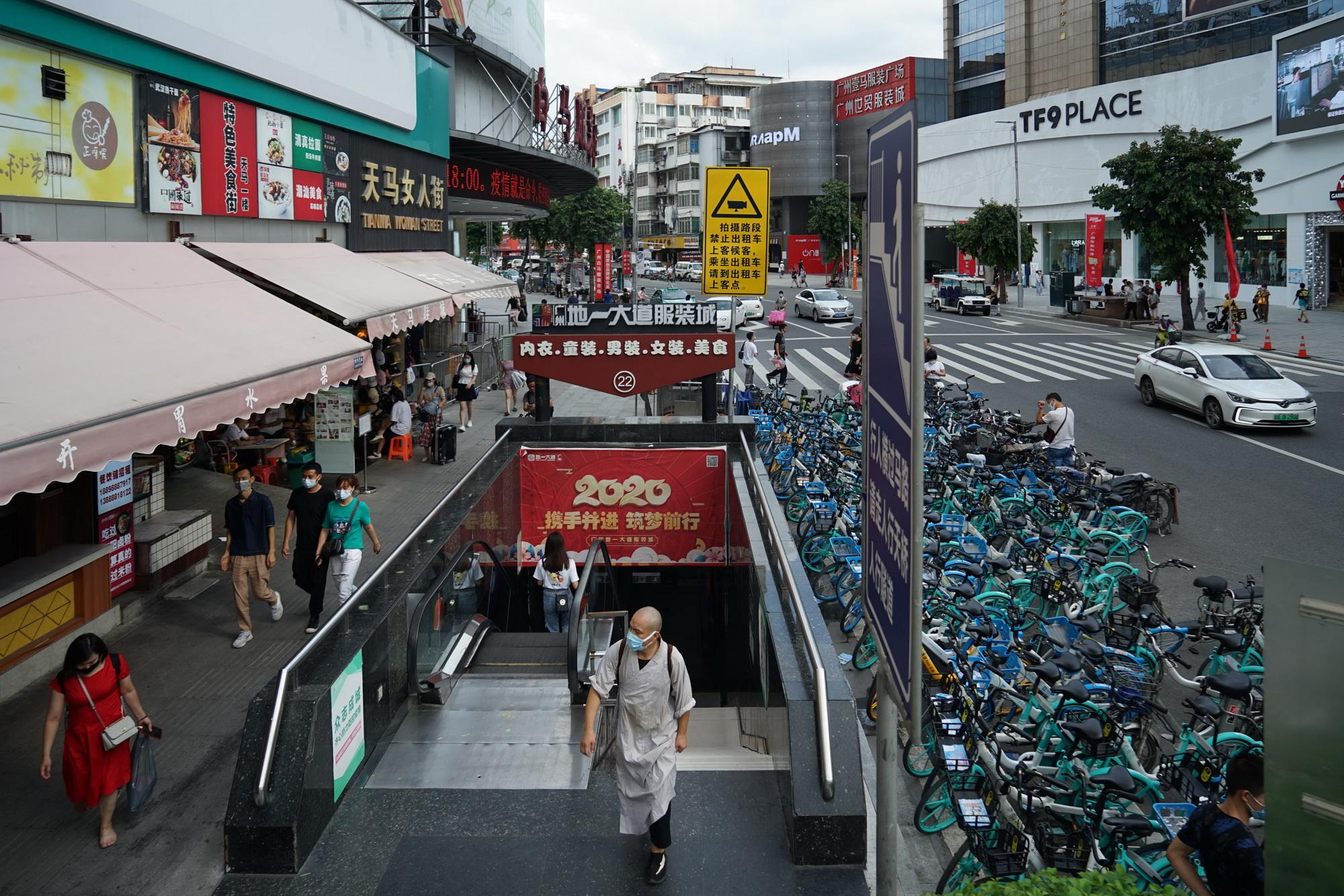 2020年6月4日,广州白马服装城。