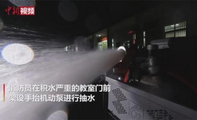 视频|湖北荆州一高考考点被淹,开考前消防成功排水