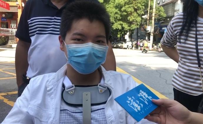 高考前三天摔伤,武汉轮椅考生说要上北大中文系