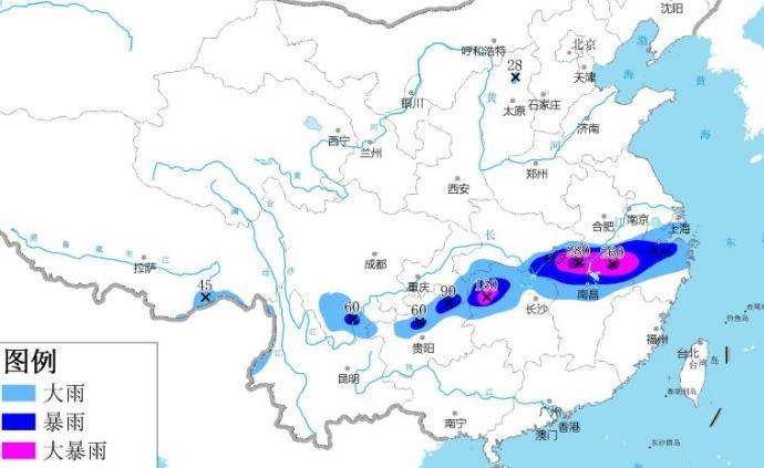 暴雨橙色预警!未来24小时安徽南部等地局地有特大暴雨