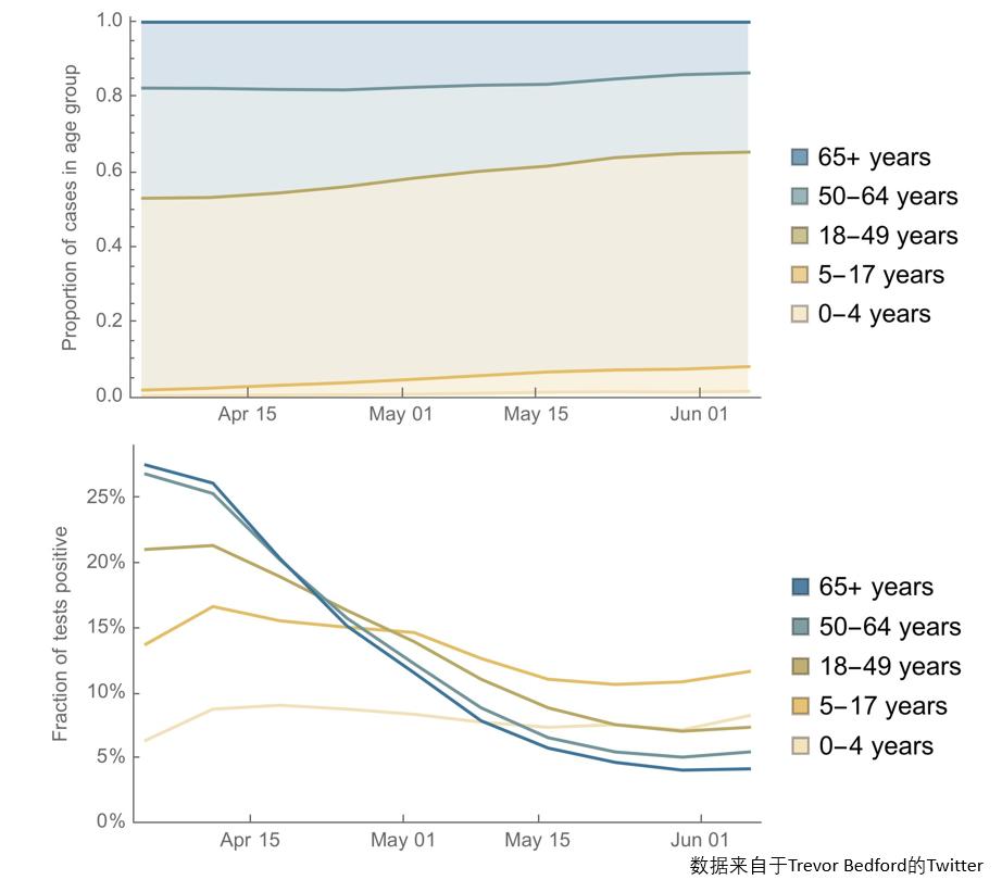 图10 不同年龄阶段确诊人数占比