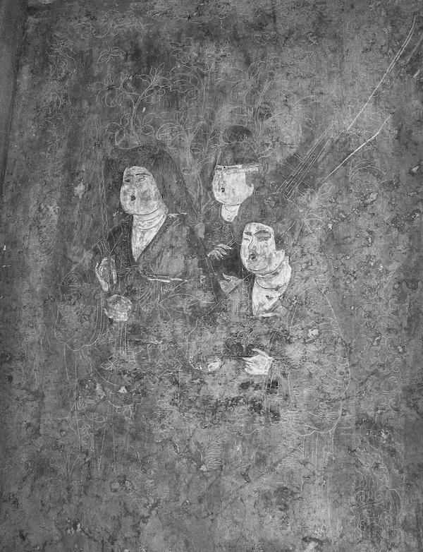 石椁内壁宫 女头像(局部)