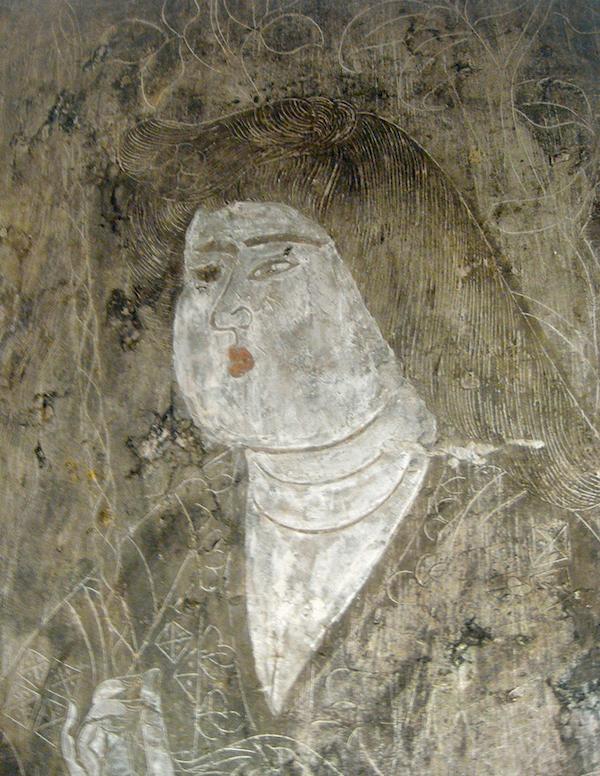 石椁内 壁宫官头像