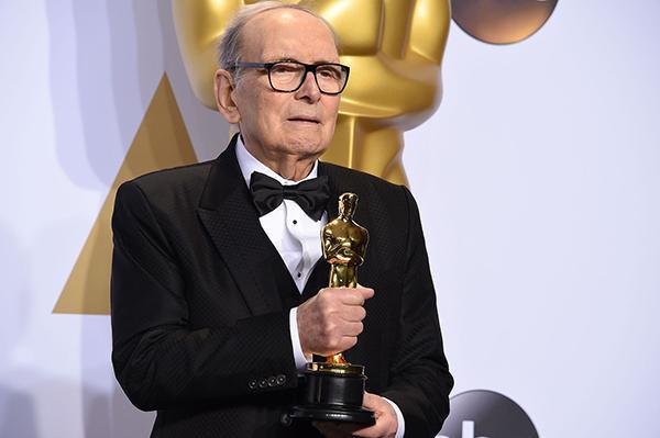 2016年,莫里康内凭借《八恶人》拿到了奥斯卡最佳配乐奖。人民视觉 资料图