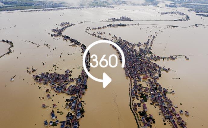 360°全景|抢险!江西鄱阳问桂道圩堤现漫决险情
