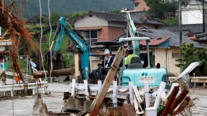 日本熊本县等地暴雨致70人死亡,安倍将视察灾区