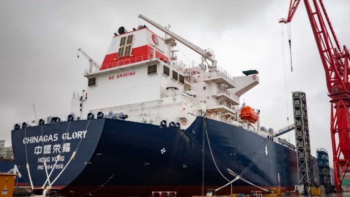"""江南造船今年第6艘超大型液化气船签字交付,船中""""三高"""""""