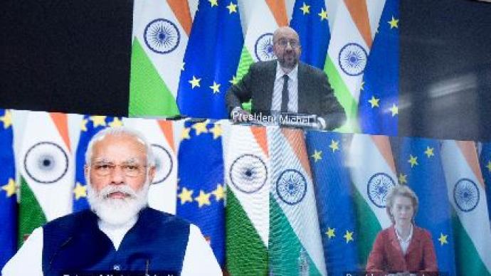 """歐盟領導人表示希望與印度達成""""雄心勃勃的""""自貿協定"""