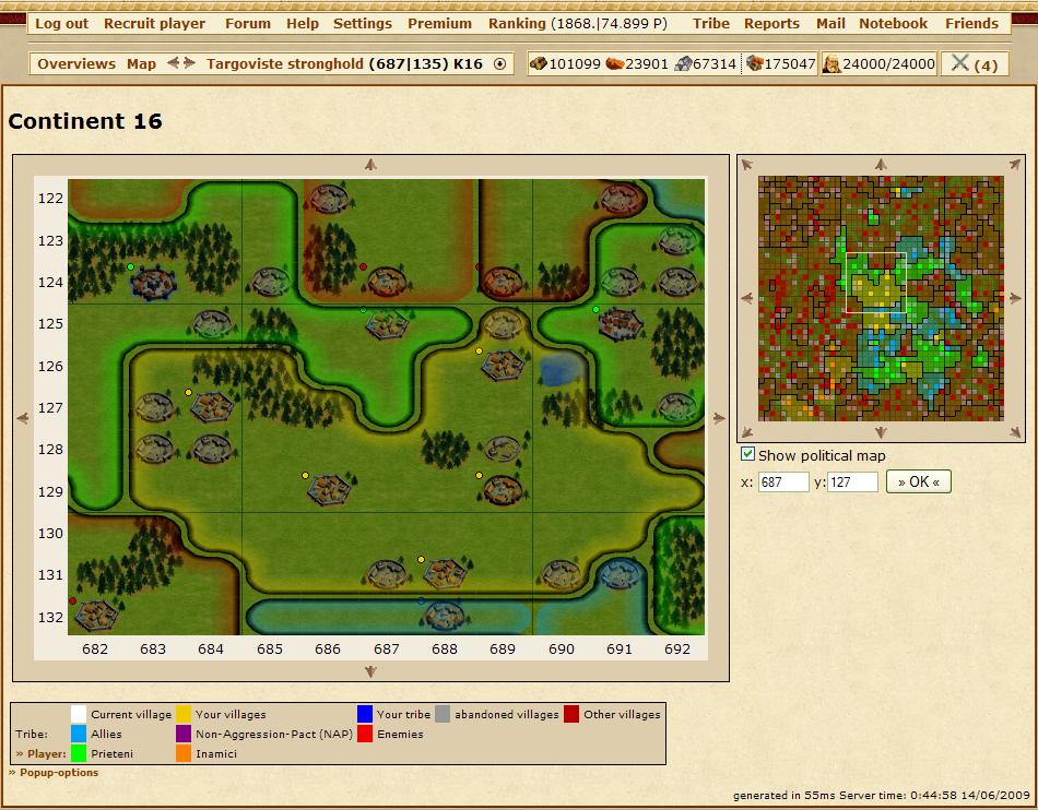 《Tribal Wars》由网格组成的地图为后来的策略游戏所借鉴。