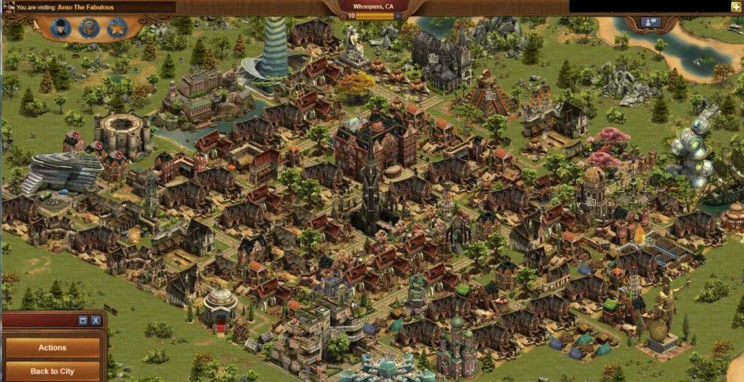 《Forge of Empires》的城市建造