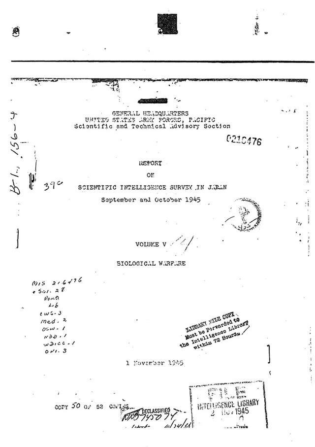 《莫瑞·桑德斯报告》首页