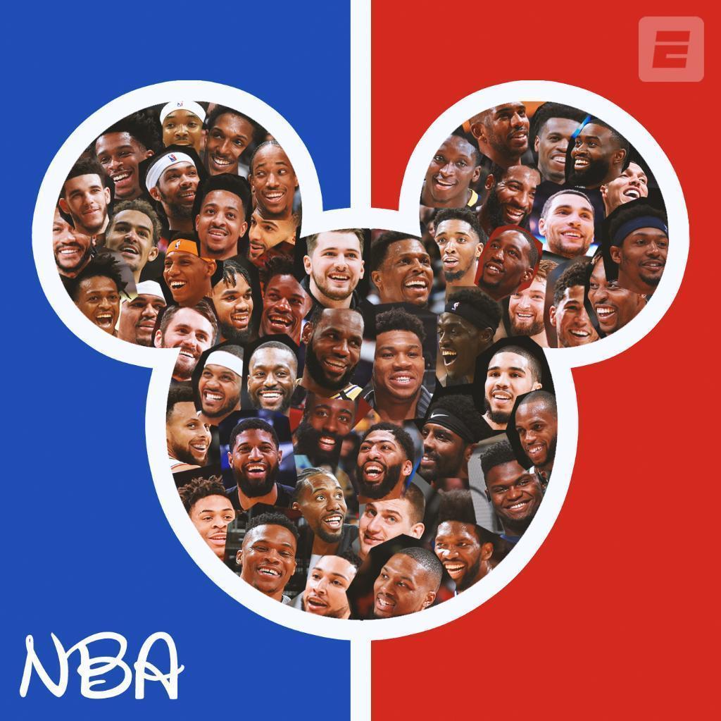 NBA将在迪士尼世界荟萃复赛。