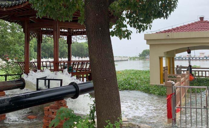 巢湖中庙站水位攀升至13.36米,已达百年一遇标准
