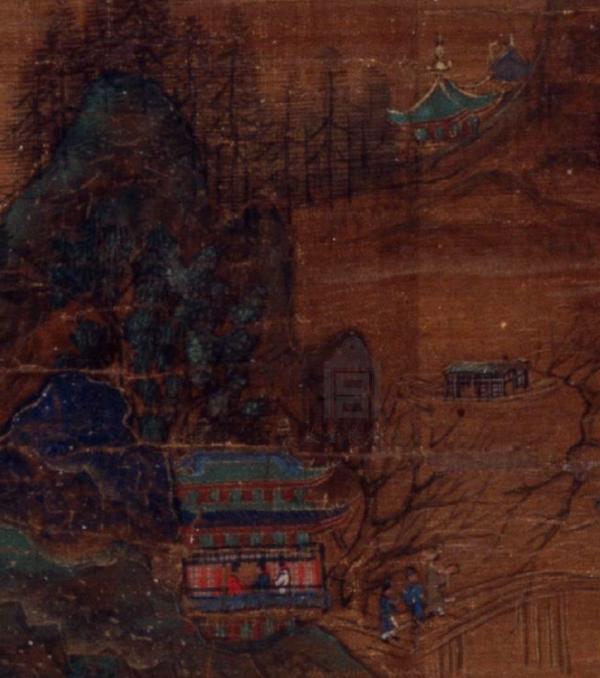 南宋 《九成避暑图》(局部) 故宫博物院藏