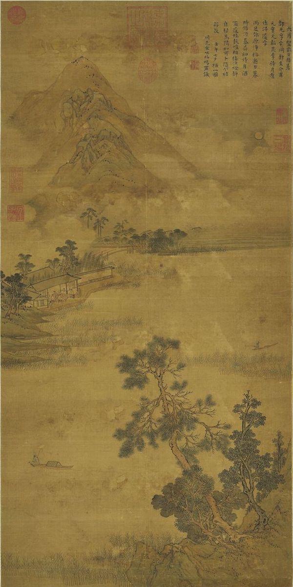 明 宋旭 《清吟消夏图》 台北故宫博物院藏