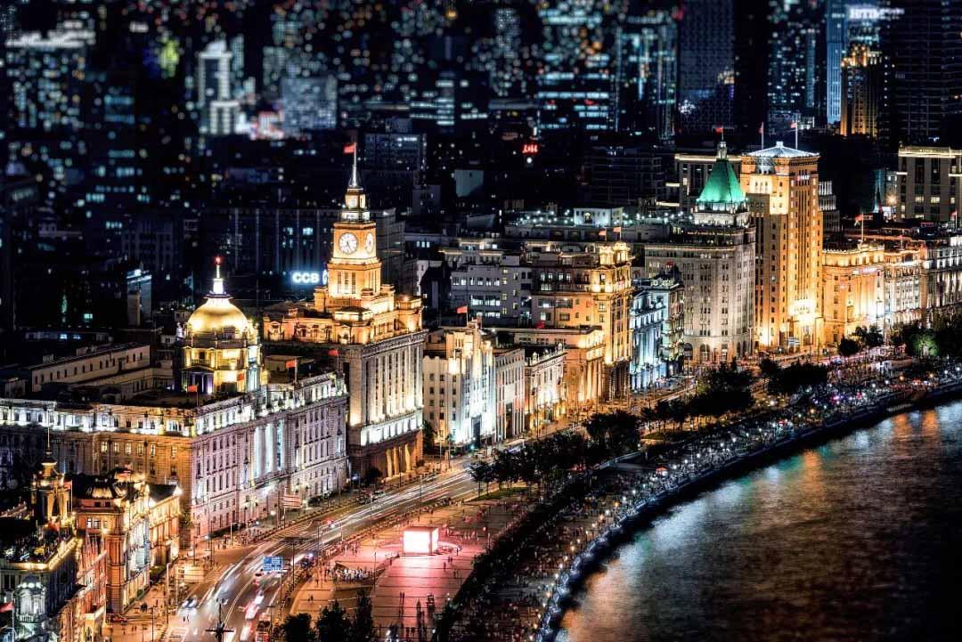 上海外滩夜景(示意图)