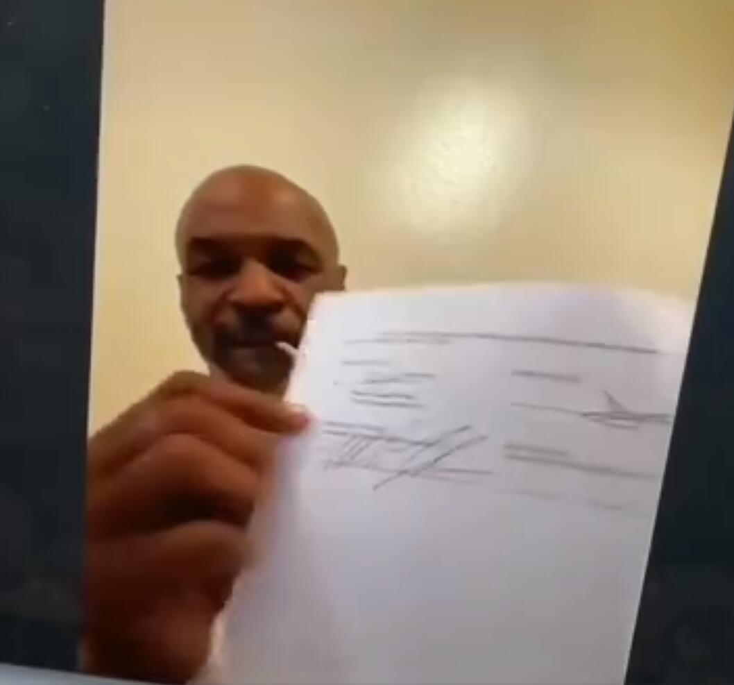 泰森视频签约。
