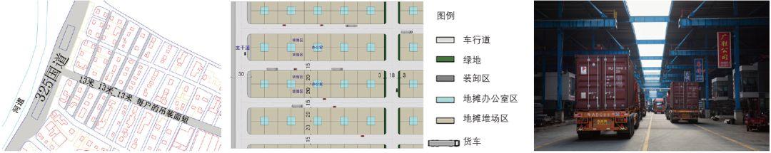 办公单元加堆场的地摊模式及示意图