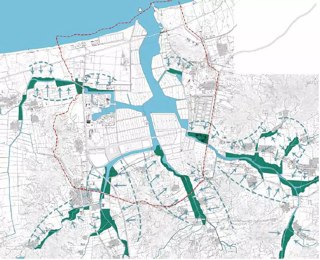 扩大到200平方公里范围对三条雨源性河流全流域6小时滞洪区进行规定的设计