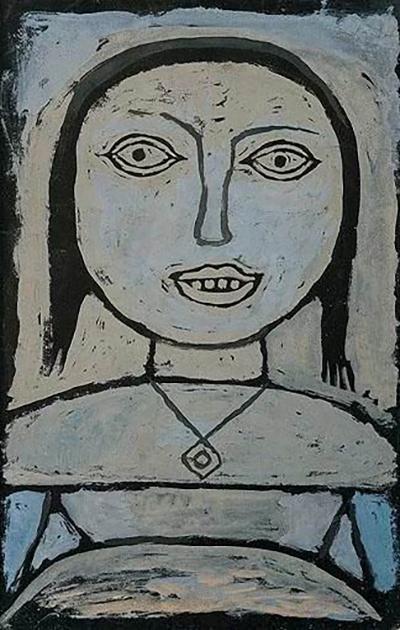 保罗·克利《病中女孩》1937