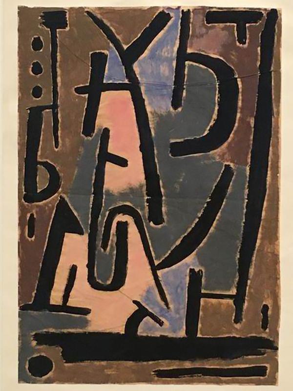 保罗·克利《恐怖的信号》(1938)
