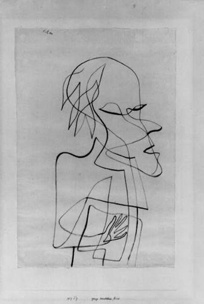 保罗·克利《一个无足轻重却自命不凡的家伙》(1927)