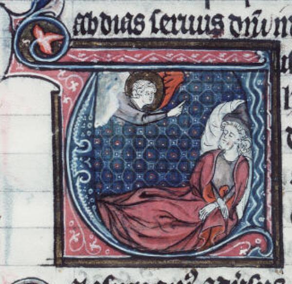 俄巴底亚梦见上帝(法国,十三世纪)