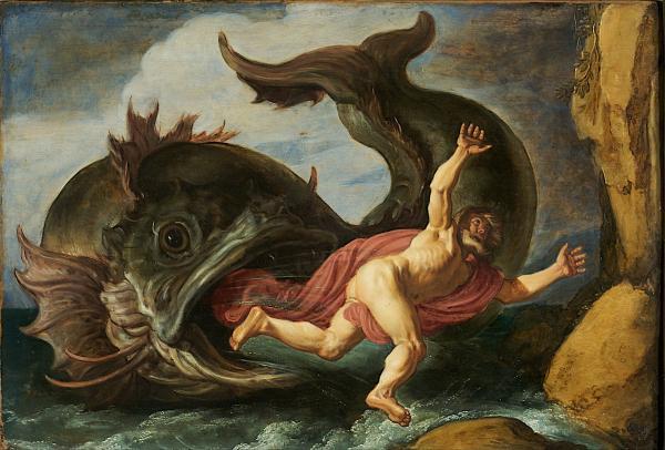 Pieter Lastman绘《约拿和鲸》(1621)