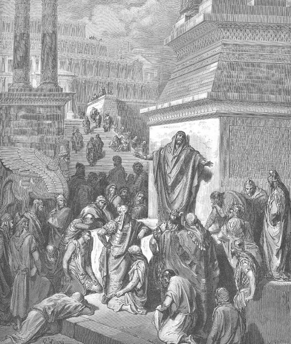 Gustave Doré绘《约拿向尼尼微人传圣言》(1866)